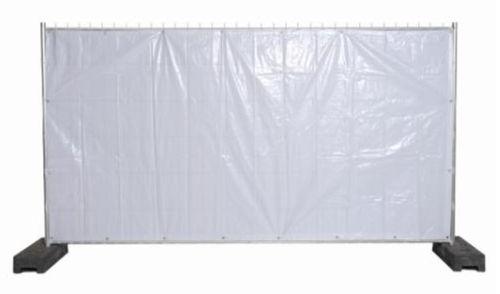 Pressu Työmaa-aitaan, 1.75x20m, Valkoinen