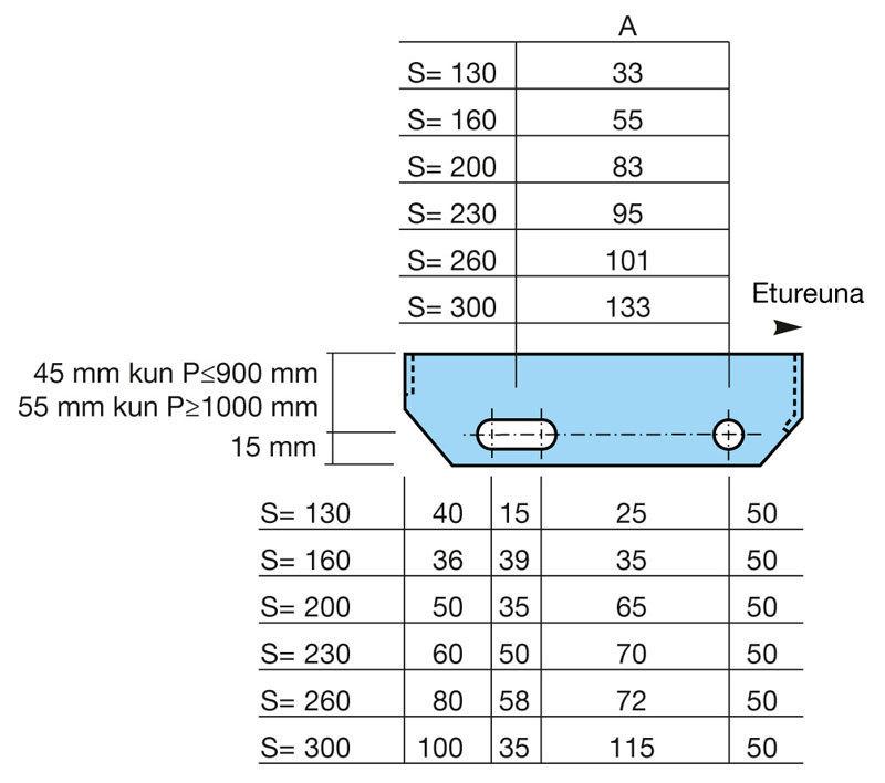 RITILÄASKELMA ZN 34x76/20x3 - 500x160mm