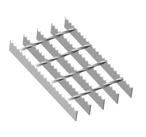 Liukuturvaritilä Sinkitty 6100x1000 34x76 30x3mm hammastettu S4