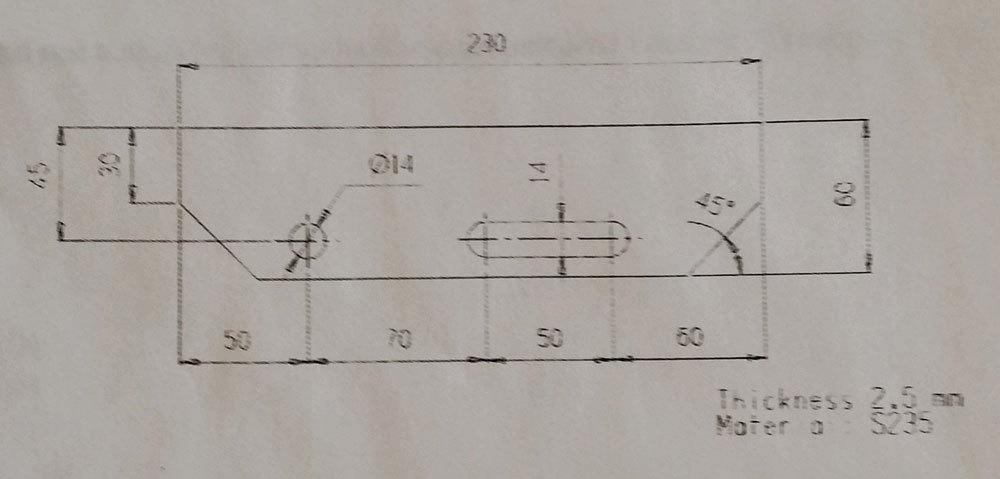 RITILÄASKELMA ZN 34x76/30x2 - 800X230mm, hammastettu