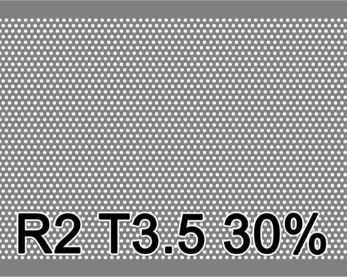 Reikälevy Musta teräs 1.0x1000x2000mm R2 T3.5 30%