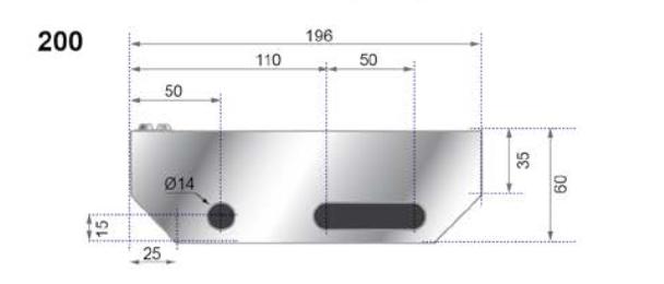 RITILÄASKELMA ZN 34x76/30x2 - 700X200mm, hammastettu