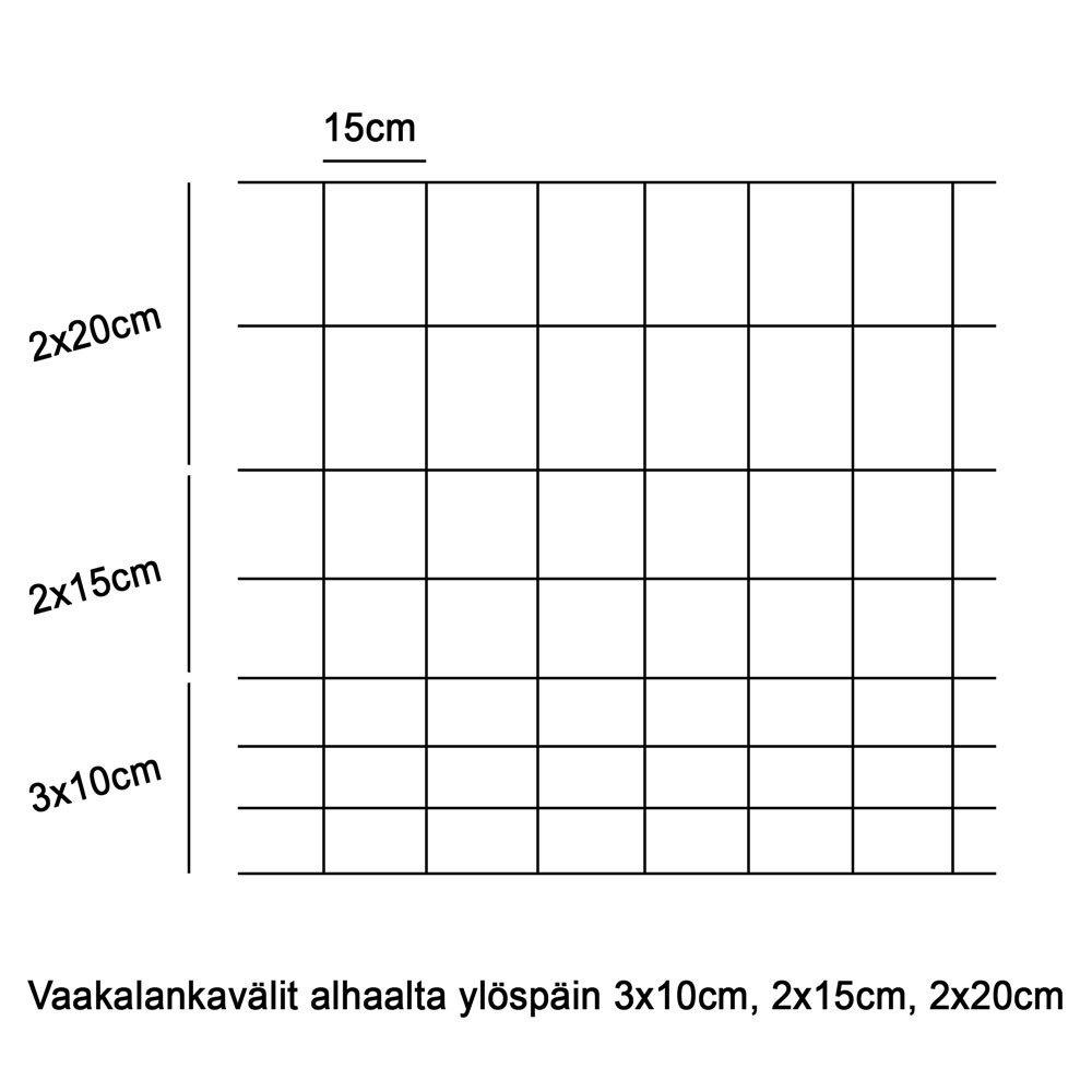 Lammasverkko Kuumasinkitty 100/8/15 2.5-2.0mm 50m