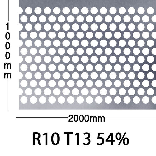 Reikälevy Musta teräs 1.0x1000x2000mm R10 T13 54%