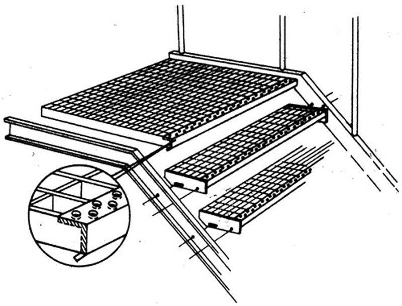 RITILÄASKELMA (Ruutu) ZN 34x38/30x3 – 1000X270mm