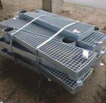 Kierreporrasaskelma Sinkitty 1000mm SP 34x38/30x3mm
