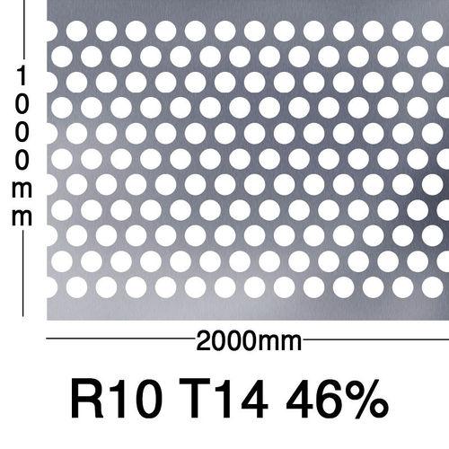 Reikälevy Sinkitty 1.0x1000x2000mm R10 T14 46%