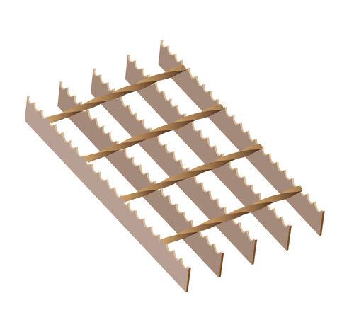 Ritilämatto Teräs 6100x1000 34x76 30x3mm hammastettu S4