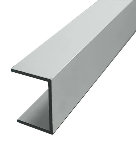 U-profiili Alumiini 9x10x1x1mm