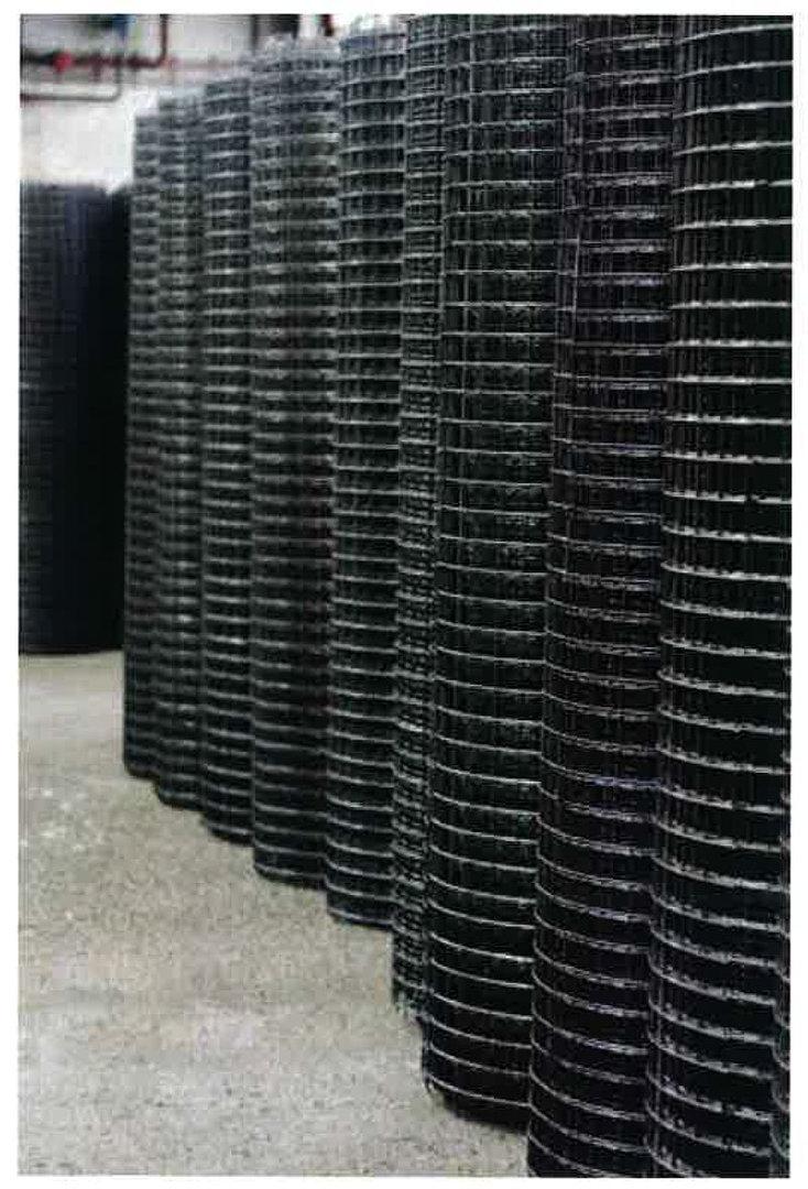 Hitsattu verkkorulla Musta 150x150x3mm 2000mm 50m