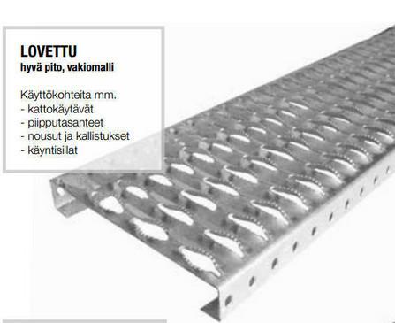 Profiilitasoritilä Sinkitty 300x40x6000mm hammastettu