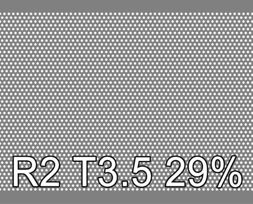 Reikälevy RST (AISI304) 0.5x1000x2000mm R2 T3.5 30%