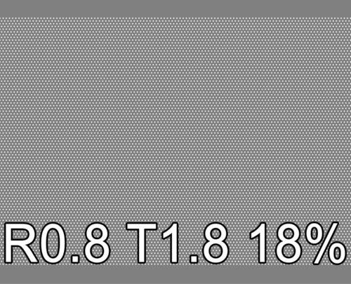 Reikälevy RST (AISI304) 0.5x1000x2000mm R0.8 T1.8 18%