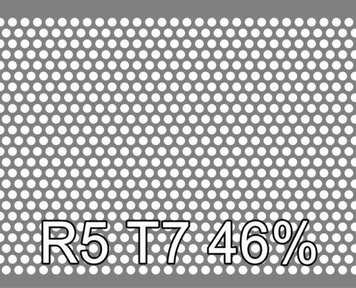 Reikälevy RST (AISI304) 0.5x1000x2000mm R5 T7 46%