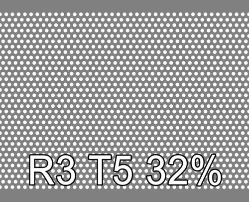 Reikälevy RST (AISI304) 0.5x1000x2000mm R3 T5 32%