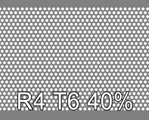 Reikälevy RST (AISI304) 0.5x1000x2000mm R4 T6 40%