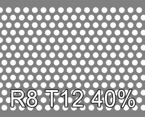 Reikälevy RST (AISI304) 0.8x1000x2000mm R8 T12 40%