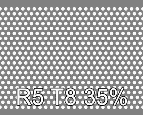 Reikälevy RST (AISI304) 0.8x1000x2000mm R5 T8 35%