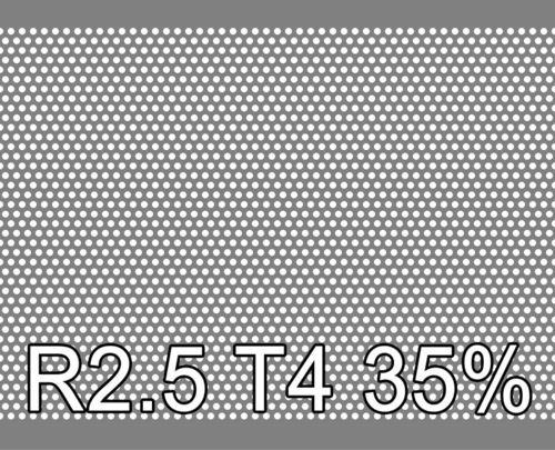 Reikälevy RST (AISI304) 1.0x1000x2000mm R2.5 T4 35%