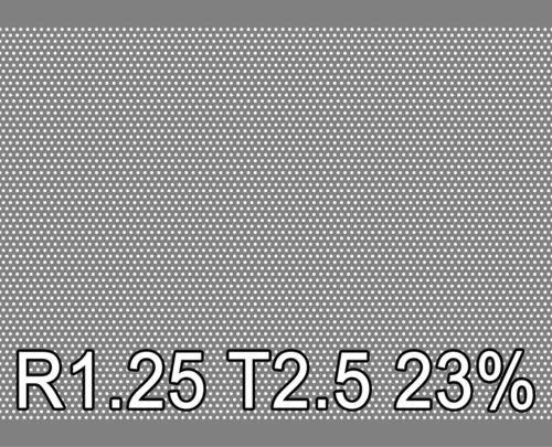 Reikälevy RST (AISI304) 1.0x1000x2000mm R1.25 T2.5 23%