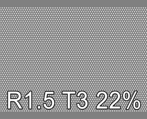 Reikälevy RST (AISI304) 1.0x1000x2000mm R1.5 T3 23%