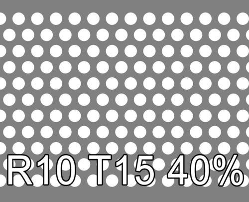 Reikälevy RST (AISI304) 1.0x1000x2000mm R10 T15 40%