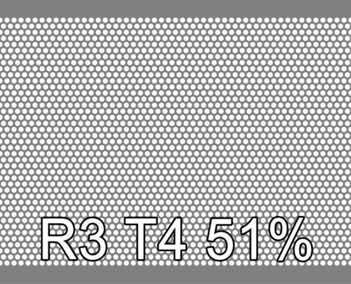 Reikälevy RST (AISI304) 1.0x1000x2000mm R3 T4 51%