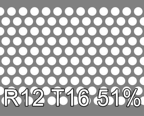 Reikälevy RST (AISI304) 1.5x1000x2000mm R12 T16 51%