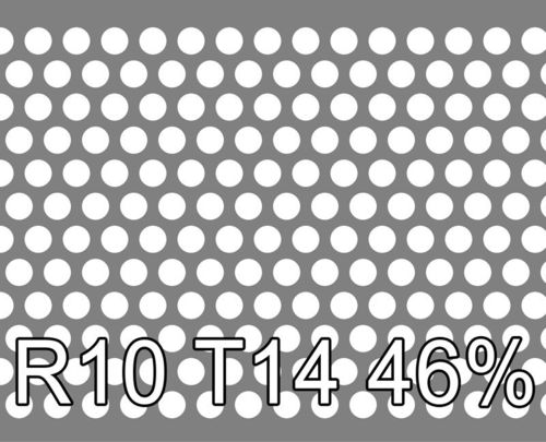 Reikälevy RST (AISI304) 1.5x1000x2000mm R10 T14 46%