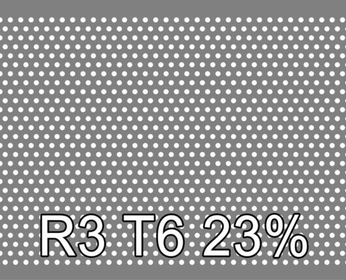 Reikälevy RST (AISI304) 3.0x1000x2000mm R3 T6 23%