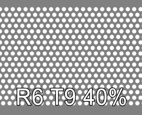 Reikälevy HST (AISI316L) 1.0x1000x2000mm R6 T9 40%