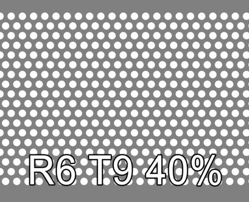 Reikälevy HST (AISI316L) 2.0x1000x2000mm R6 T9 40%