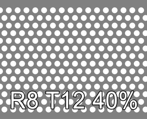 Reikälevy Alumiini 1.0x1000x2000mm R8 T12 40%