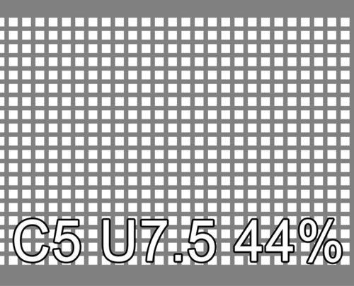 Neliöreikälevy Sinkitty (Zn) 1.0x1000x2000mm C5 U7.5 44%