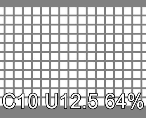 Neliöreikälevy Sinkitty (Zn) 1.0x1000x2000mm C10 U12.5 64%
