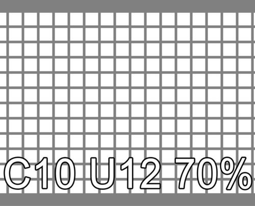 Neliöreikälevy Sinkitty (Zn) 1.5x1000x2000mm C10 U12 70%