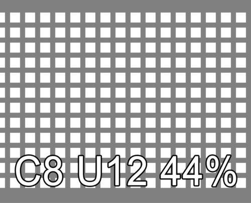 Neliöreikälevy Sinkitty (Zn) 1.5x1000x2000mm C8 U12 44%