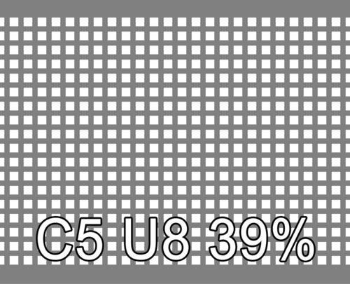 Neliöreikälevy Sinkitty (Zn) 1.5x1000x2000mm C5 U8 39%