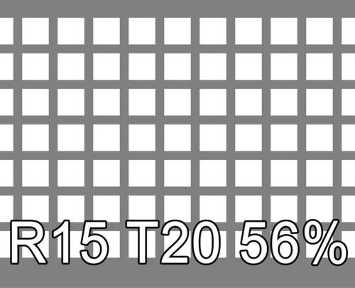 Neliöreikälevy Sinkitty (Zn) 2.0x1000x2000mm C15 U20 56%