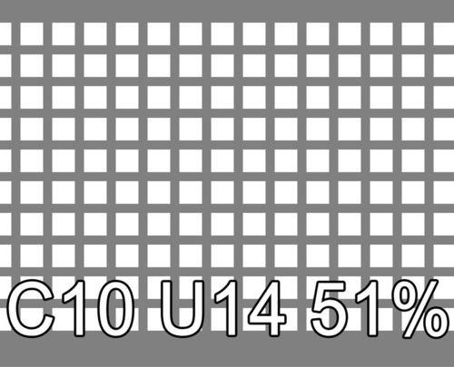 Neliöreikälevy Sinkitty (Zn) 2.0x1000x2000mm C10 U14 51%