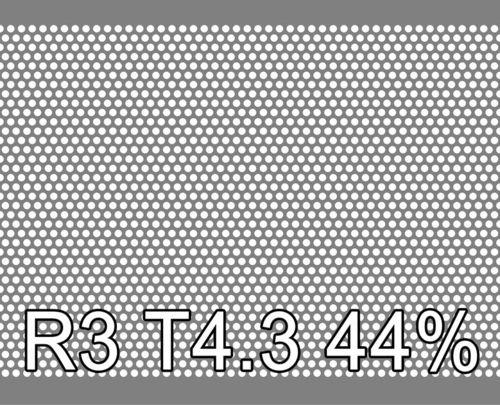 Reikälevy Sinkitty (Zn) 0.6x1000x2000mm R3 T4.3 44%