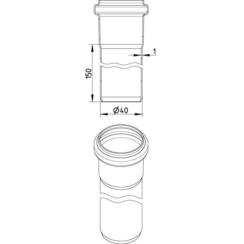 Blucher RST muhviputki 40x6000mm