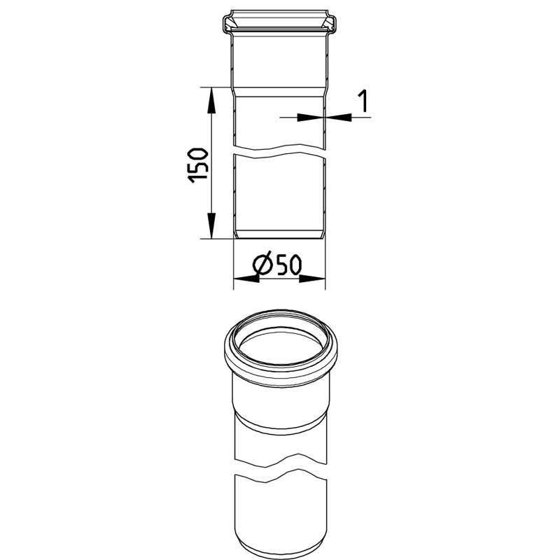 Blucher RST muhviputki 50x6000mm