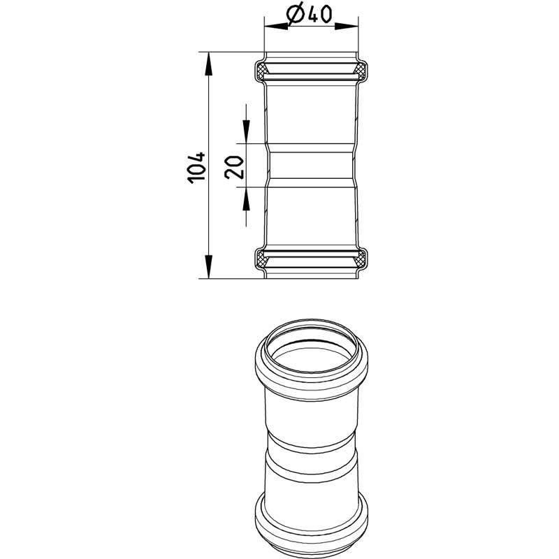 Blucher RST Kaksoismuhvi 40mm