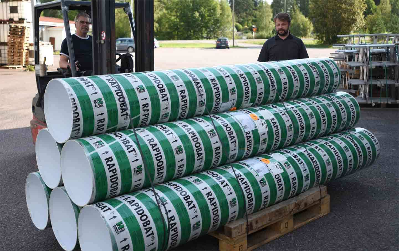 Rapidobat kertakäyttömuotit pilarivaluihin 250x3000mm