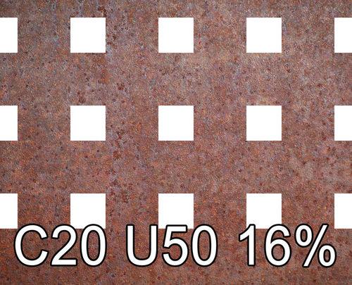 Reikälevy Cor-Ten 2.0x1000x2000mm C20 U50 16%